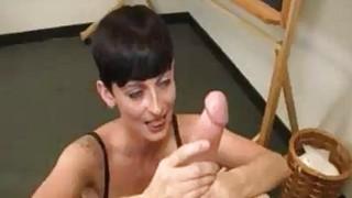 Goth Babes Got To Stroke Teachers Cock As Punish