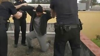 Black dude is forced to fuck horny female cops and satisfy their creamy pussies