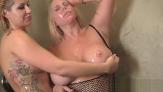 Savana Styles and Karen Fisher Shower Rub Down