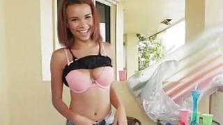 Bigtit ebony gf blows on sunny balcony