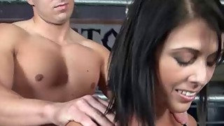Corset Girl Rubbing Pussy Against Guy Face