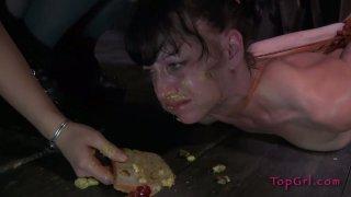 Slutty whore Elise Graves eats shit in BDSM sex video