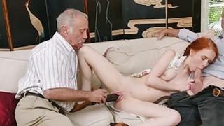 Redhead slut Dolly Little bangs by old men