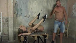 Petite teen roughfucked by maledom master