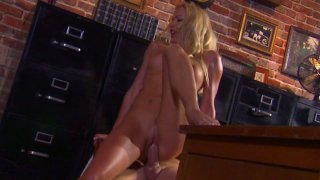 Elite prostitute Cassie Young gets fucked on the table