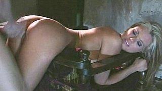 Briana Banks moans of pleasure. Ass cumshot.