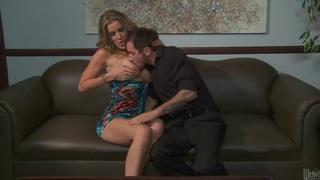 Hot sex scene of the beautiful pornstar Kayla Paige