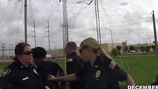A lusty blonde big as female cop gets banged hard by a black felon
