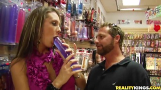 Passionate sex with shop assistant in the sex shop
