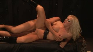 Petite blond babe Barbara Summer gets banged from behind