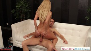 Blonde girlfriend Aaliyah Love work cock