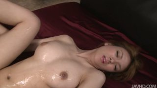 Busty Rei drilled hard and creamed in her hairy muff